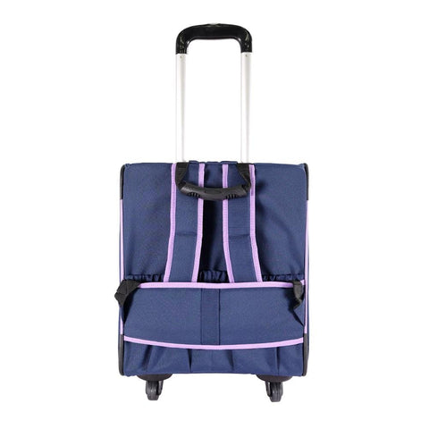Image of New Liso Backpack Parallel Transport Pet Trolley- Purple/Blue