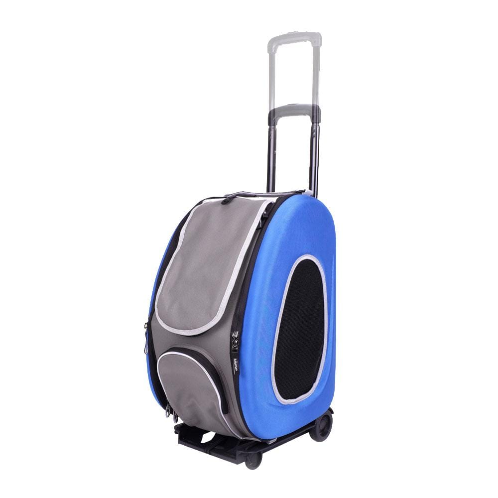 5-in-1 Combo EVA pet carrier/stroller - Royal Blue