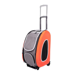 5-in-1 Combo EVA pet carrier/stroller - Tangerine