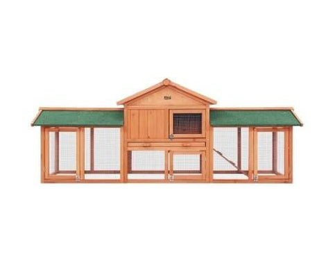 Image of Fir Wood Pet Animal Hutch Coop