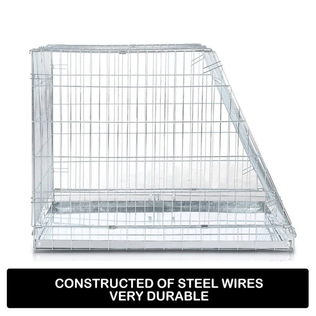 Foldable Dog Kennel Metal Wire Cage Crate W Tray Travel Carry Suitable For SUV Durable Steel Wires