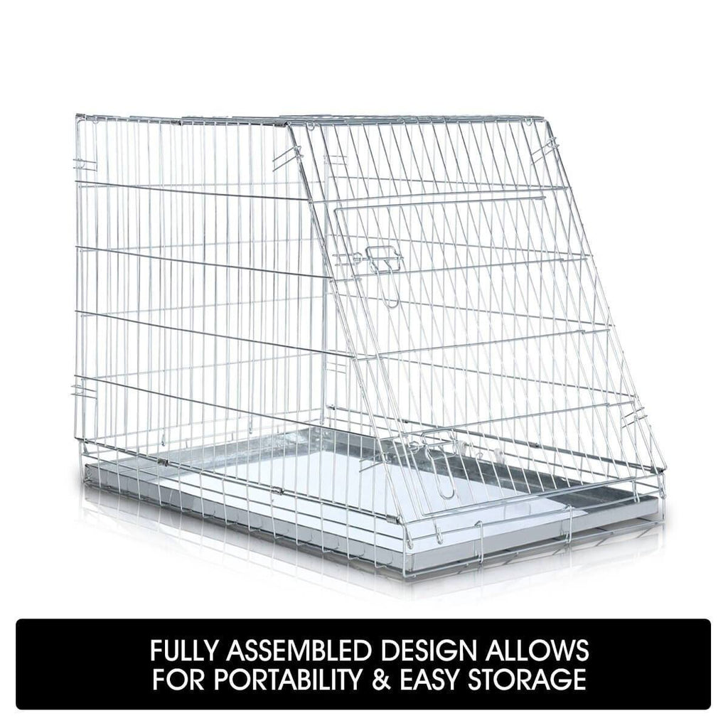 Foldable Dog Kennel Metal Wire Cage Crate W Tray Travel Carry Suitable For SUV Easy Storage Fully Assembled Design for Portability