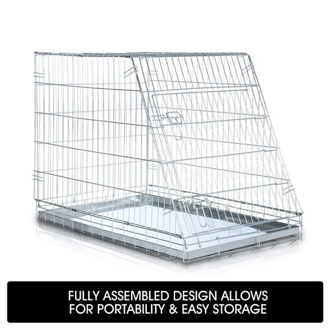 Image of Foldable Dog Kennel Metal Wire Cage Crate W Tray Travel Carry Suitable For SUV Easy Storage Fully Assembled Design for Portability