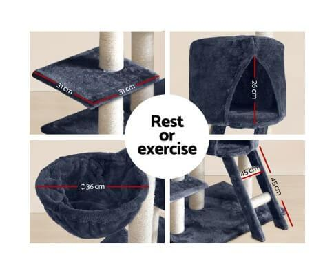 Fun Cat Rest Exercise Play Cat Gym Tower Scratch Post 244cm