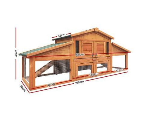 Image of Gardeon 2 Storey Wooden Hutch Dimensions