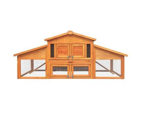 Image of Gardeon 2 Storey Wooden Hutch Everyday Pets