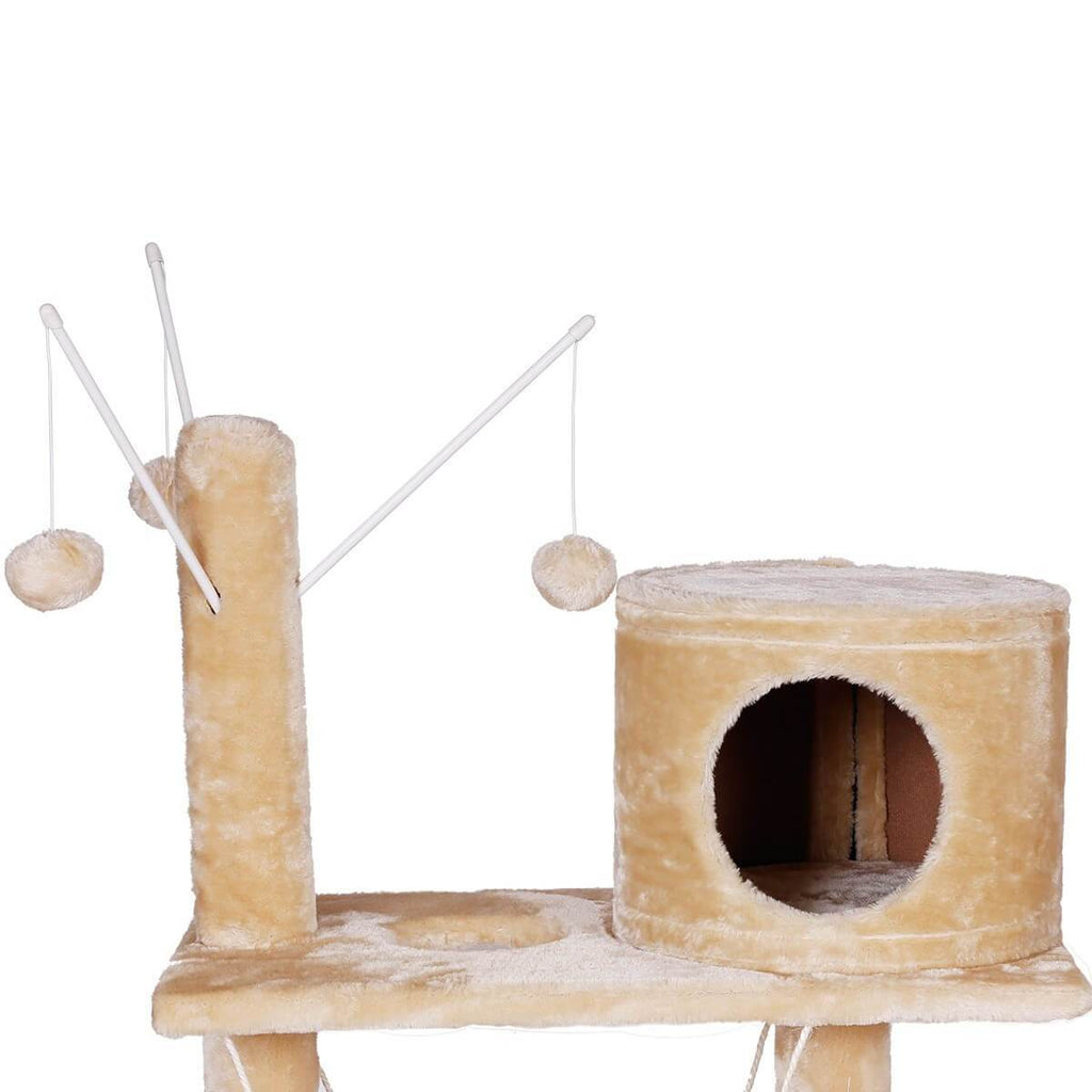 Giant 150cm Cat Tree with Hanging Rope
