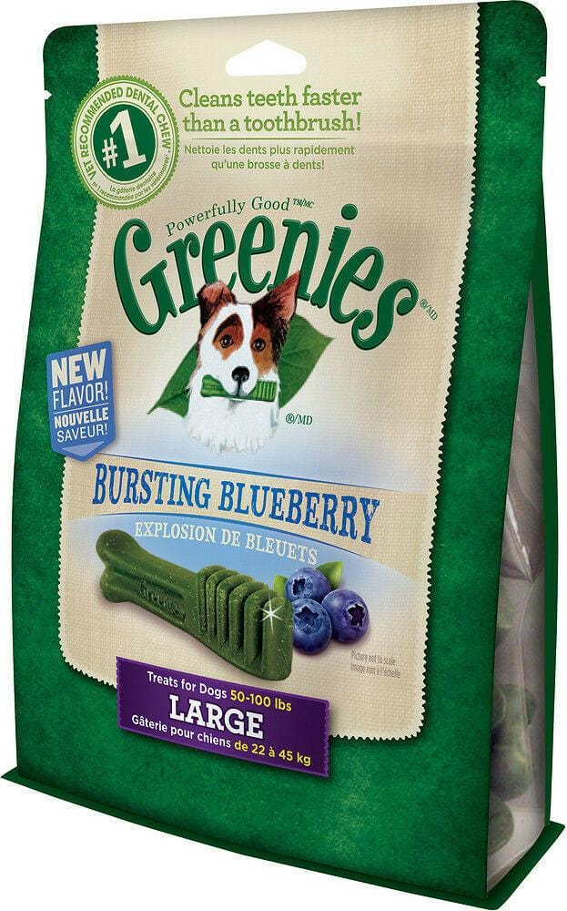 Greenies Dental Chews Treat-Pak Bursting Blueberry Large pk 8 340g