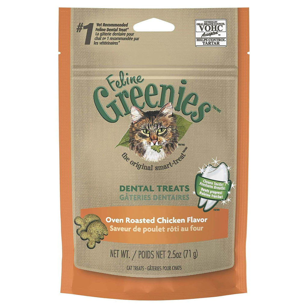 Greenies Cat Dental Chews Oven Roasted Chicken 71g