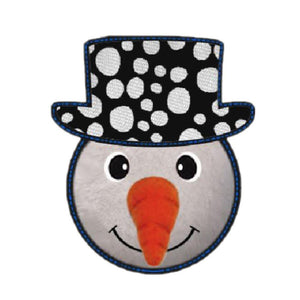 Kong Holiday Ballistic Ears Snowman Medium