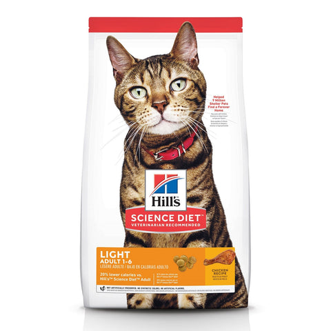 Image of Hill's Adult Cat (1-6) Light Dry Cat Food Chicken Recipe