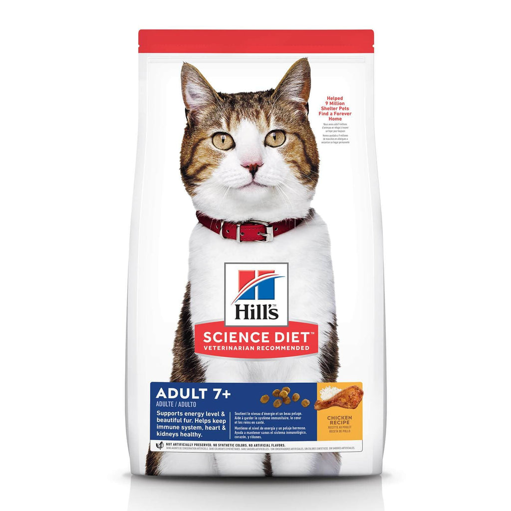 Hill's Adult Cat (7+) Dry Cat Food Chicken Recipe