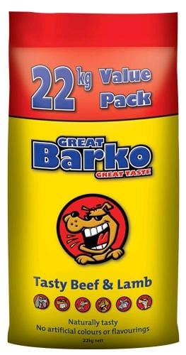 Lauke Great Barko Beef & Lamb Adult Dog Dog Food 22kg Everyday Pets