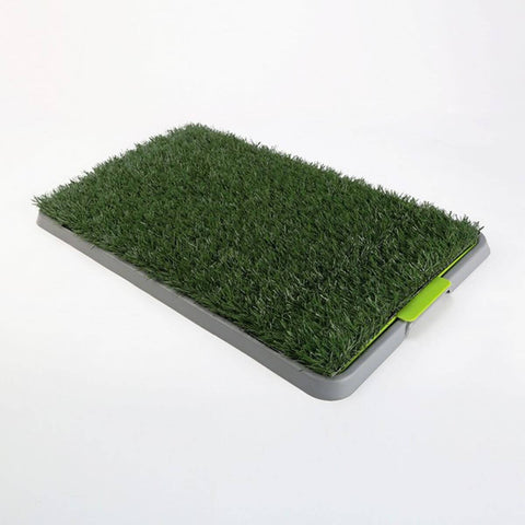 Image of Indoor Dog Pet Potty Training Toilet Portable - 1 Grass Mat