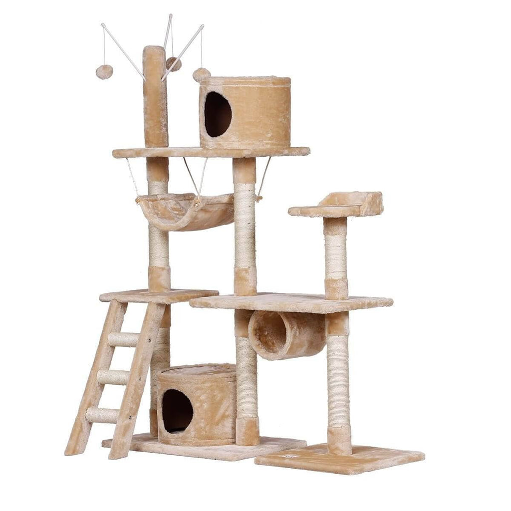 Innovative Cat Scratching Post Multi Level Cat Tower Entertaining Kitty Cat Tree Playground