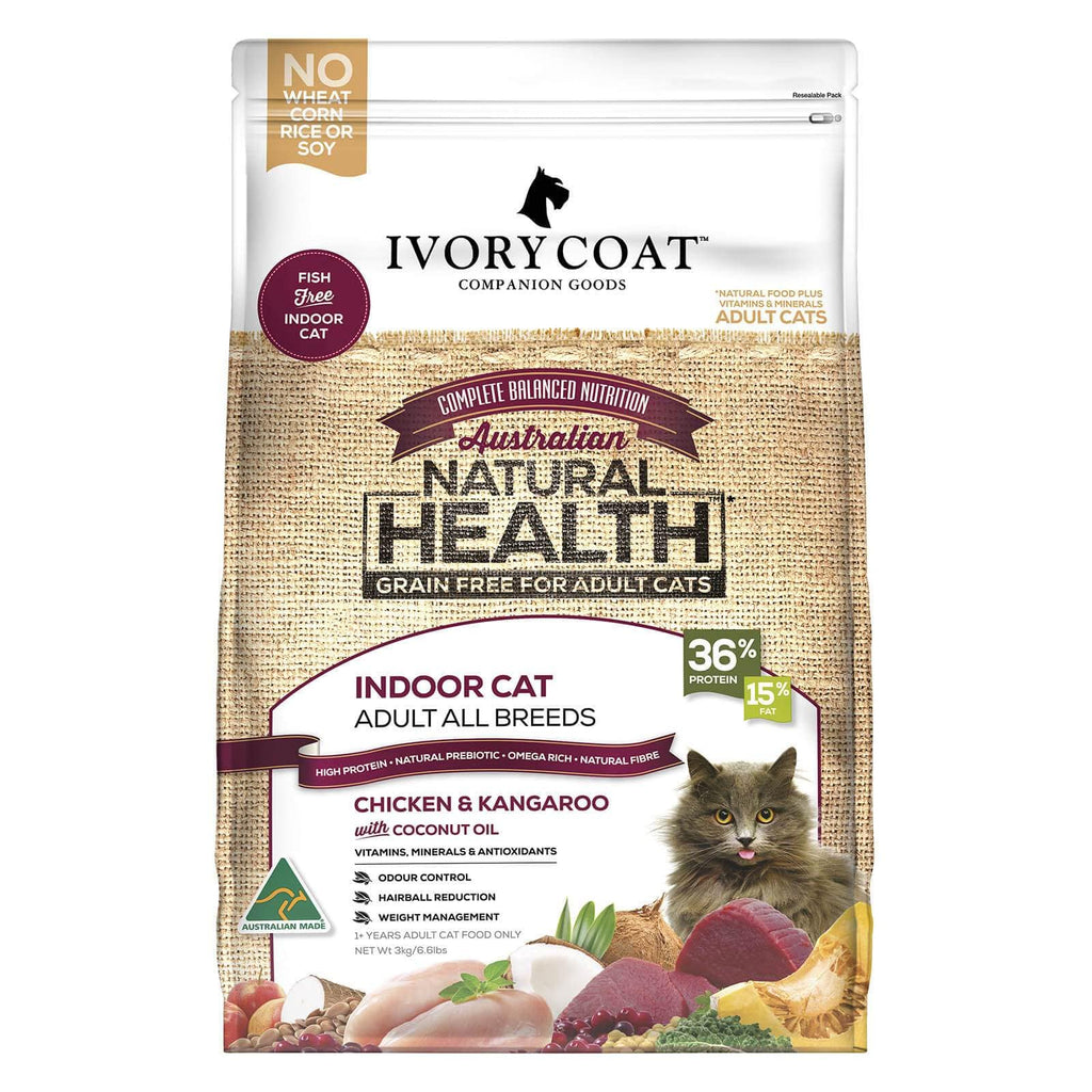 Ivory Coat Cat Grain Free Dry Cat Food Chicken and Kangaroo (Indoor)