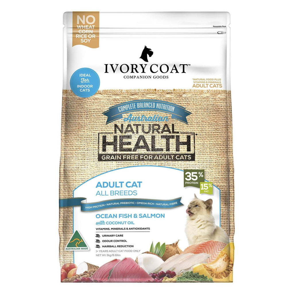 Ivory Coat Cat Grain Free Dry Cat Food Ocean Fish & Salmon 6kg