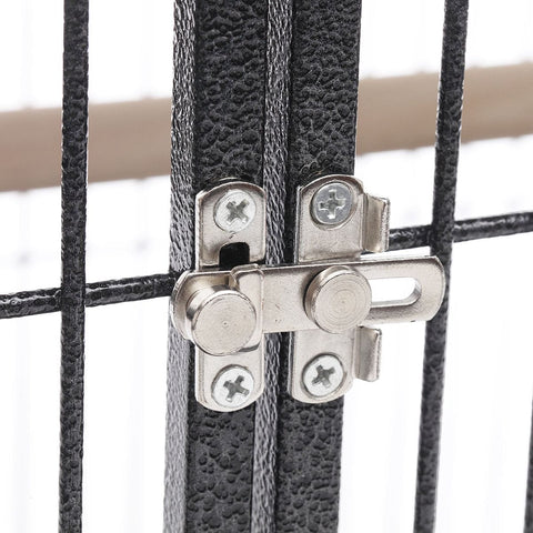 Image of Lacework Bird Cage on Wheels Double Door Lock for Extra Safety Everyday Pets