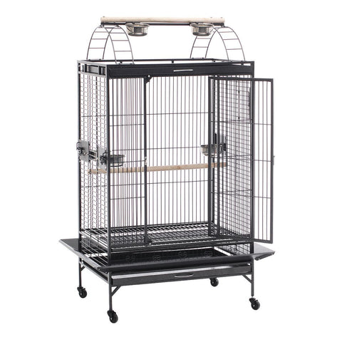 Image of Lacework Bird Cage on Wheels with 1 Large Centre Access Door with Secure Locks Everyday Pets