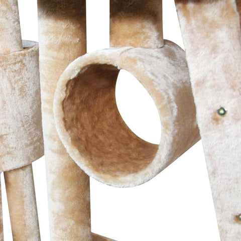Image of Multi Level Cat Gym Play Centre Tree 190 x 50 x 260cm Tunnels