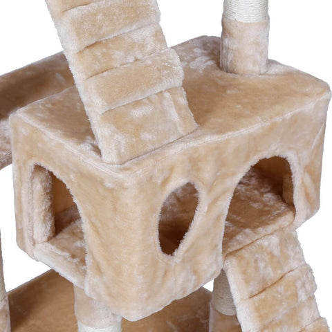Image of Large Cat Tree with Bed Cubes Sleep and Relax