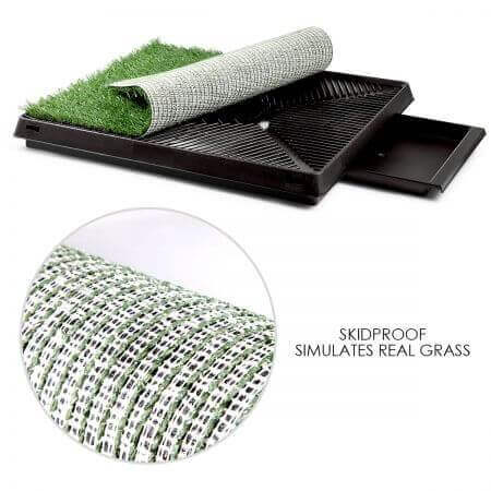 Image of Large Indoor Pet Toilet Skid proof Pet Potty Grass Pad