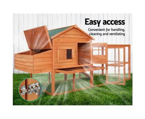 Image of Large Fully Enclosed Fir Wood Coop