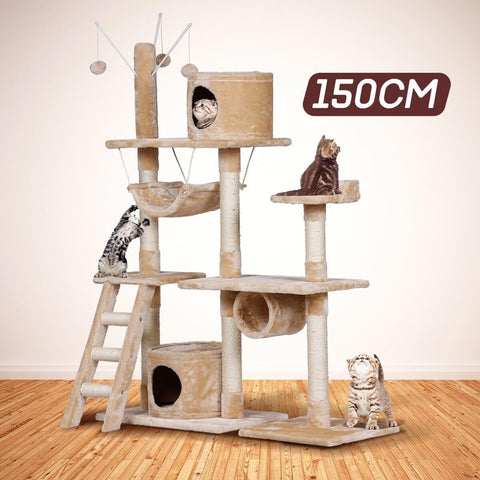 Large & Giant Cat Tree 150cm High for Multiple Cats