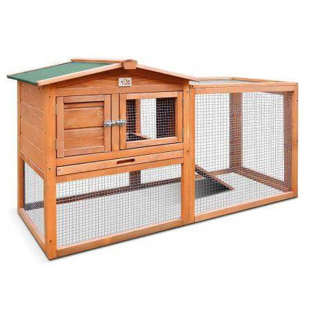 Image of Large Size Wooden Chicken Coop Rabbit Hutch Guinea Pig Ferret Cage Hen House Everyday Pets