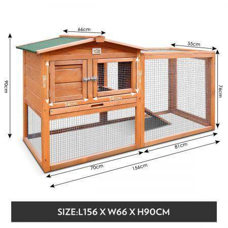 Large Size Wooden Chicken Coop Rabbit Hutch MEasurement and Diameter Everyday Pets