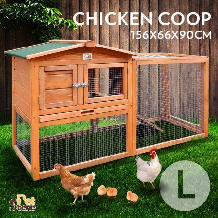 Large Size Wooden Chicken Coop Rabbit Hutch suitable for rabbits, guinea pigs, rabbits, ducks or other small animals Everyday Pets