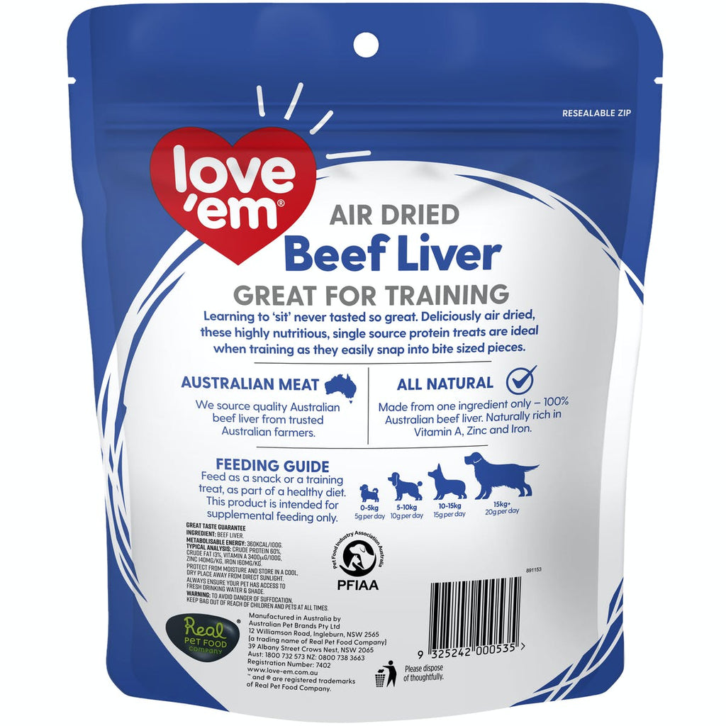 Love em Air Dried Beef Liver 4x200g
