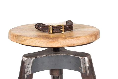 Image of Mog-and-Bone-Leather-and-Brass-Rope-Collar-Natural-Have-Style-Comfort-Functionality