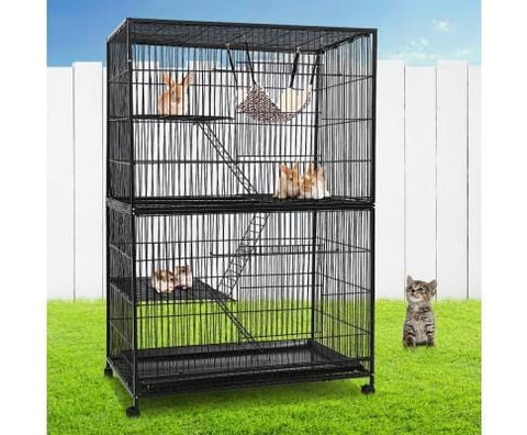 Image of Multi-level Ferret Cage with Wheels