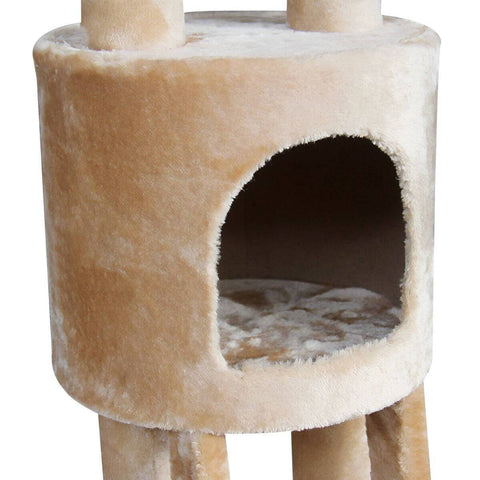 Image of Multi Level Cat Gym Play Centre Tree 190 x 50 x 260cm Bed Cube