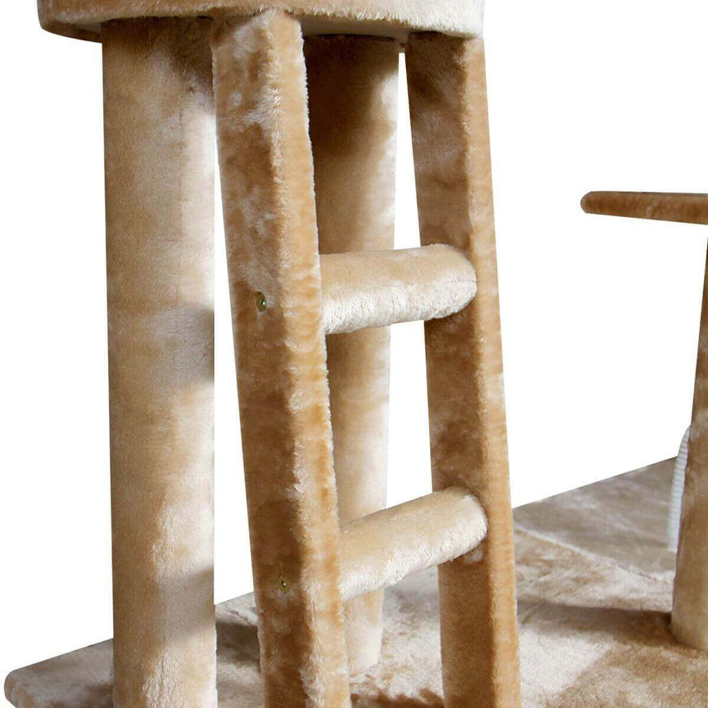 Multi Level Cat Gym Play Centre Tree 190 x 50 x 260cm Step Ladder