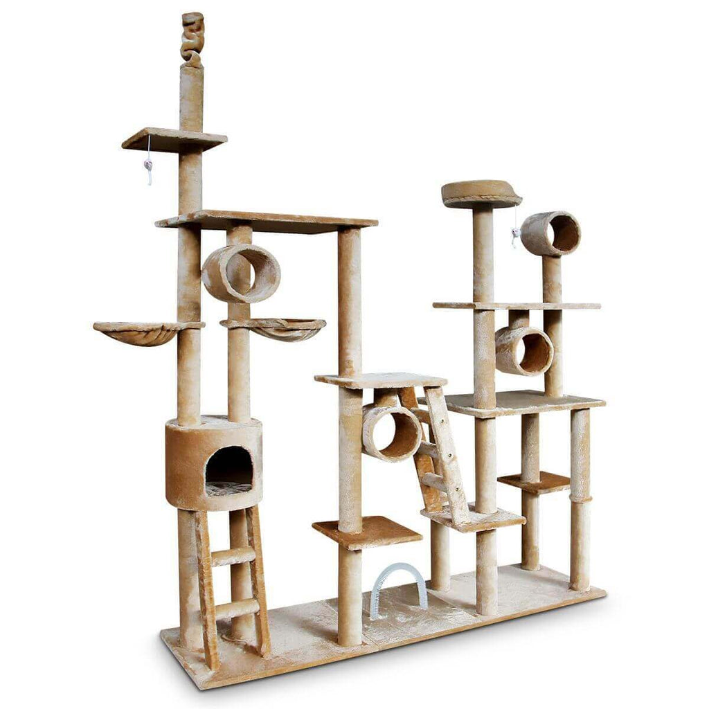 Multi Level Cat Gym Play Centre Tree 190 x 50 x 260cm with Side Angle