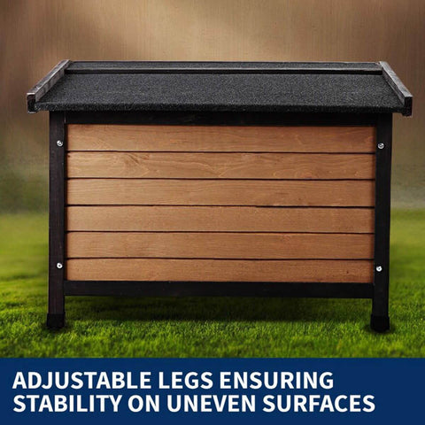 Image of New Royal Pet Dog Timber House Kennel Wooden Home Adjustable Legs