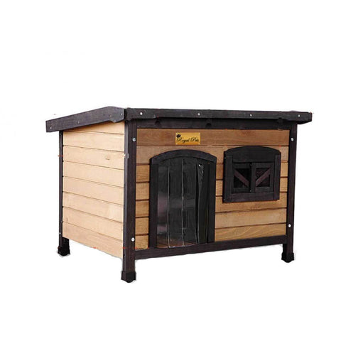 New Royal Pet Dog Timber House Kennel Wooden Home Outdoor Box Cabin Puppy Window