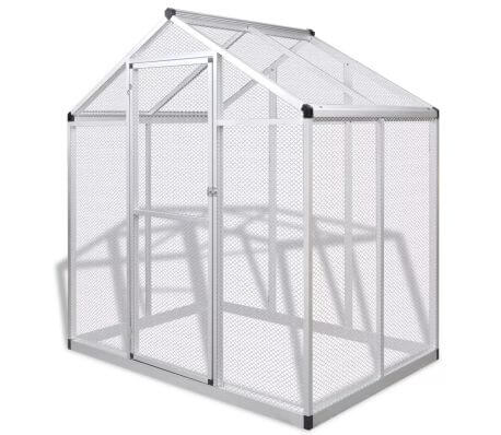 Image of Outdoor Aviary Aluminium 178x122x194 cm Everyday Pets