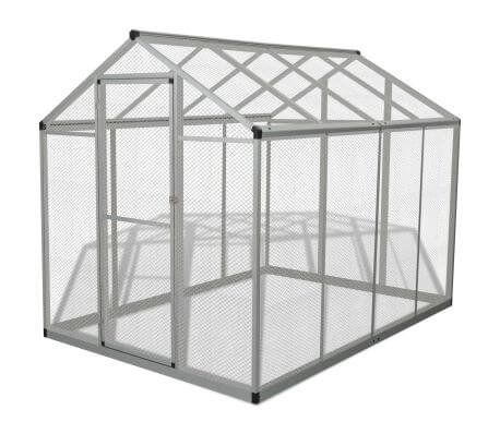 Image of Outdoor Aviary Aluminium 178x242x192 cm Everyday Pets