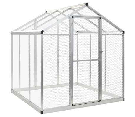 Image of Outdoor Aviary Aluminium 183x178x194 cm Everyday Pets
