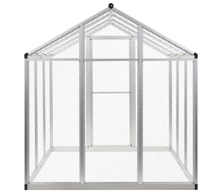 Image of Outdoor Aviary Aluminium Back View Everyday Pets