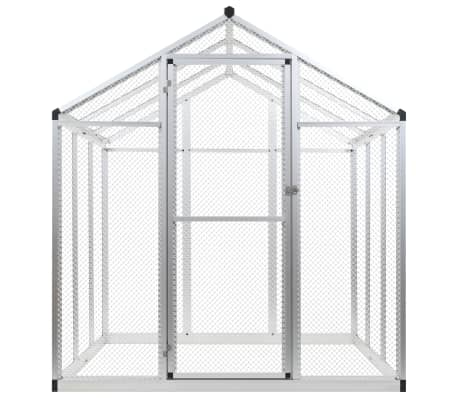 Image of Outdoor Aviary Aluminium Front View with Door Everyday Pets