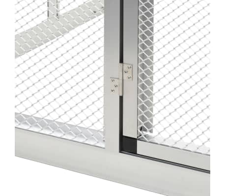 Image of Outdoor Aviary Aluminium Heavy Duty Hinge Door Everyday Pets