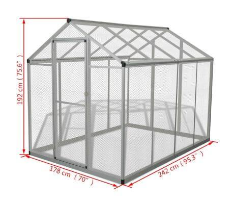 Outdoor Aviary Aluminium Measurement and Diameter Everyday Pets