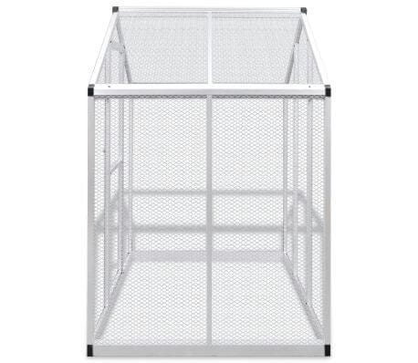 Image of Outdoor Aviary Aluminium Side View Everyday Pets