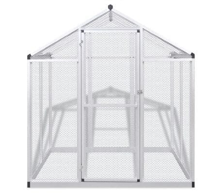 Image of Outdoor Aviary Aluminium Frame Front View with Door Everyday Pets