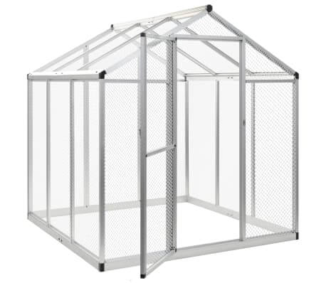 Image of Outdoor Aviary Aluminium with Aluminum Wire Mesh Everyday Pets