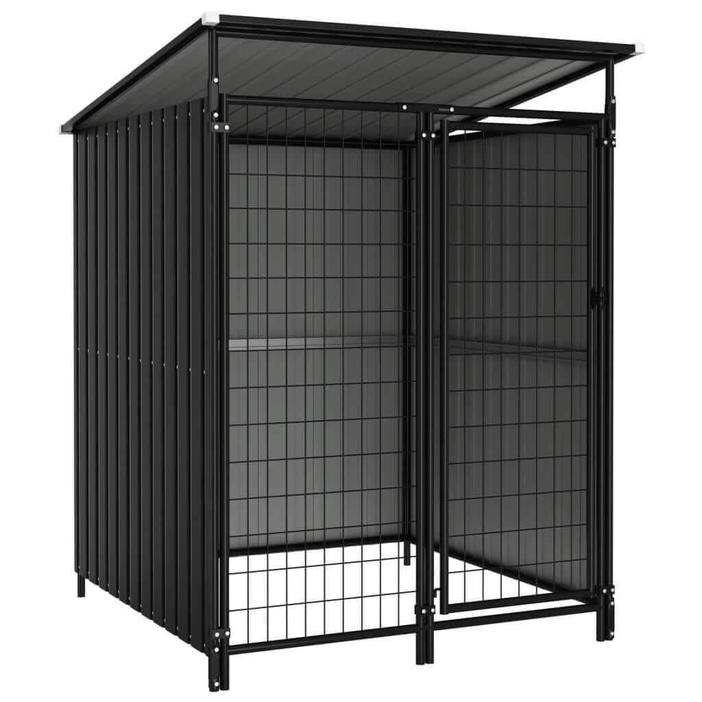 Outdoor Dog Kennel 133 x 133 x 163 cm Anthracite Everyday Pets